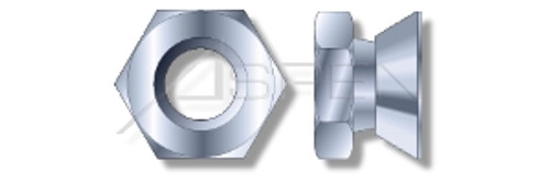 """1/2""""-13 Tamper Resistant Break Away Security Nuts, Steel, Zinc Plated"""