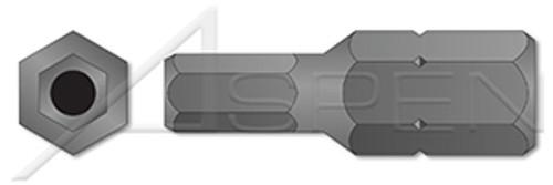 "1/8"" Insert Bits, Tamper-Resistant Hex Socket Pin Drive"