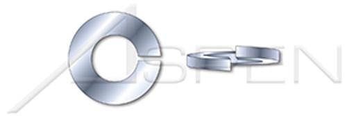 #10 Helical Spring Lock Washers, Heavy Split, Steel, Zinc Plated, Hardened
