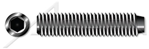 """#0-80 X 3/16"""" Hex Socket Set Screws, Cup Point, Alloy Steel, Plain, Unbrako"""