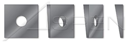 "1"" Square Beveled Structural Levelling Washers, Steel, Hardened"
