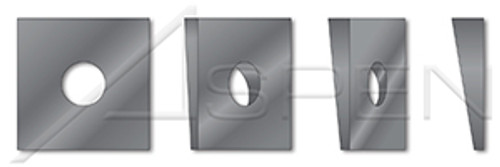 """1"""", ID=1-1/8"""", OD=1-3/4"""", THK=0.313"""" Square Beveled Structural Levelling Washers, Steel, Hardened"""