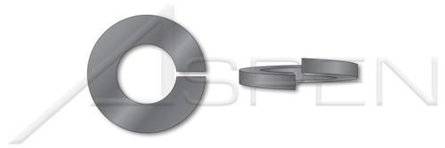 #10 Helical Spring Lock Washers, Heavy Split, Steel, Plain