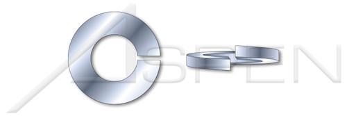 #10 Helical Spring Lock Washers, Heavy Split, Steel, Zinc Plated, Made in U.S.A.