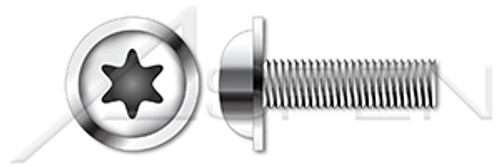 M8-1.25 X 35mm ISO 7380-2, Metric, Flanged Button Head Cap Screws, 6-Lobe Drive, A2 Stainless Steel