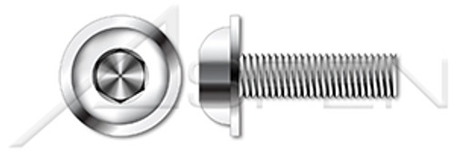 M10-1.5 X 25mm ISO 7380-2, Metric, Flanged Button Head Hex Socket Cap Screws, A4 Stainless Steel
