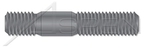M12-1.75 X 35mm DIN 939, Metric, Double-Ended Stud with Plain Center, Screw-in End 1.25 X Diameter, Grade 8 Steel, Plain