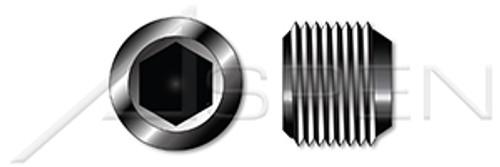 M22 DIN 906, Metric, Threaded Screw Pipe Plugs, Tapered, Hex Socket Drive, Steel, Plain, Unbrako