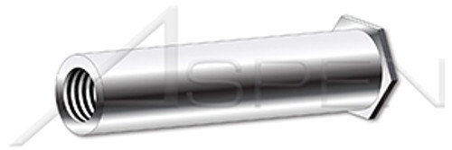 """#6-32 X 9/16"""", OD=0.275"""" Self-Clinching Standoffs, Full Thread, AISI 303 Stainless Steel (18-8)"""