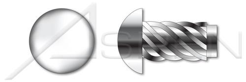 "#2 X 3/8"" U-Drive Hammer Screws, Round Head, AISI 304 Stainless Steel (18-8)"