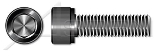 "#0-80 X 1/4"" Socket Cap Screws, Hex Drive, Fully Threaded, UNF Coarse Threading, Alloy Steel, Black Oxide"