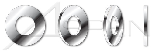#10 Flat Washers, AISI 316 Stainless Steel