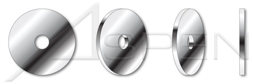 #10 Flat Washers, Fender Washers, AISI 304 Stainless Steel (18-8)