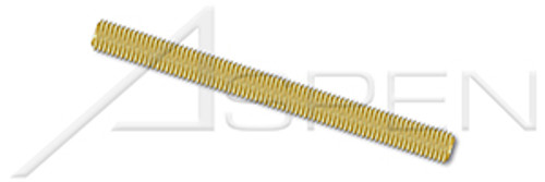 #10-24 X 3' Threaded Rods, Full Thread, Brass