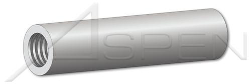 """#8-32 X 1-1/2"""" Round Female Standoffs, 1/4"""" Diameter, Aluminum Alloy # 2011"""