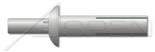 """5/16"""" X 27/32"""" Drive Pin Rivets, Aluminum Body / Aluminum Pin, Universal Head"""