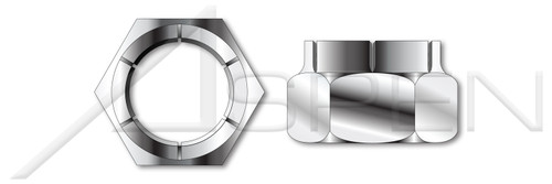 #10-24 Flex Type Lock Nuts, Light Hex, Full Height, AISI 304 Stainless Steel (18-8)