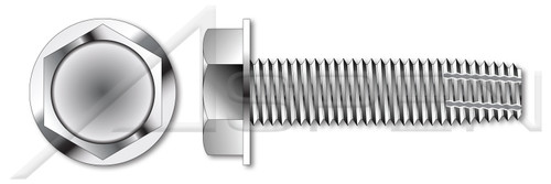 "5/16""-18 X 1"" Type F Thread Cutting Screws, Indented Hex Washer Head, 18-8 Stainless Steel"