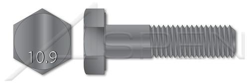 M8 X 70mm Hex Cap Screws, Partially Threaded, DIN 931 / ISO 4014, Class 10.9 Steel, Plain