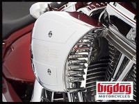 Big Dog Motorcycles OEM Louvered Air Cleaner Intake Plate (CHROME) 2004-11
