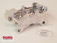 REAR BRAKE CALIPER, W/HIGH FRICTION PADS, CHROME