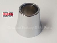FORK TUBE DUST CAP (CHROME) - FINE THREAD