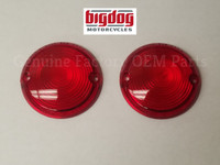 TURN SIGNAL LENSES, RED - PAIR (2000-02)