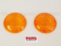 TURN SIGNAL LENSES, AMBER - PAIR (2000-02)