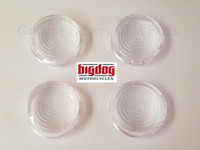 TURN SIGNAL LENSES, CLEAR WITH CIRCLES - SET OF 4