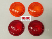 FRONT & REAR TURN SIGNAL LENSES - PAIR (2000-02)