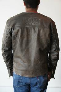 Men's Vintage Leather Riding Jacket - Medium