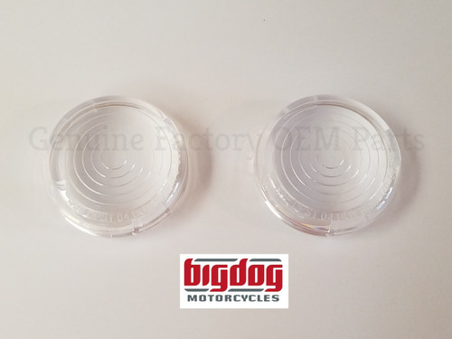TURN SIGNAL LENSES, CLEAR WITH CIRCLES - PAIR