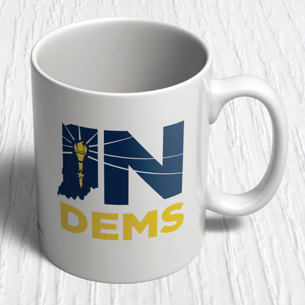 Indiana Democrats Official Logo (11oz. Coffee Mug)
