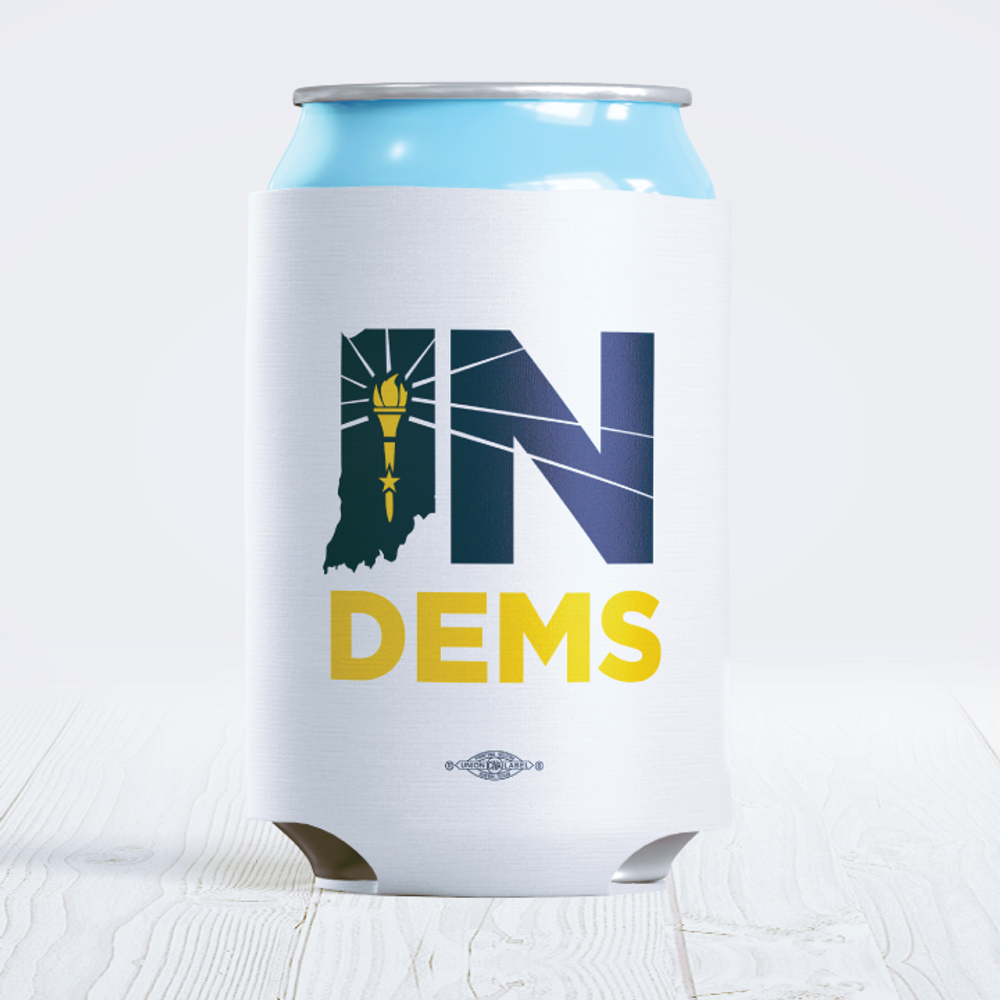 Indiana Democrats Official Logo (foam can cooler)