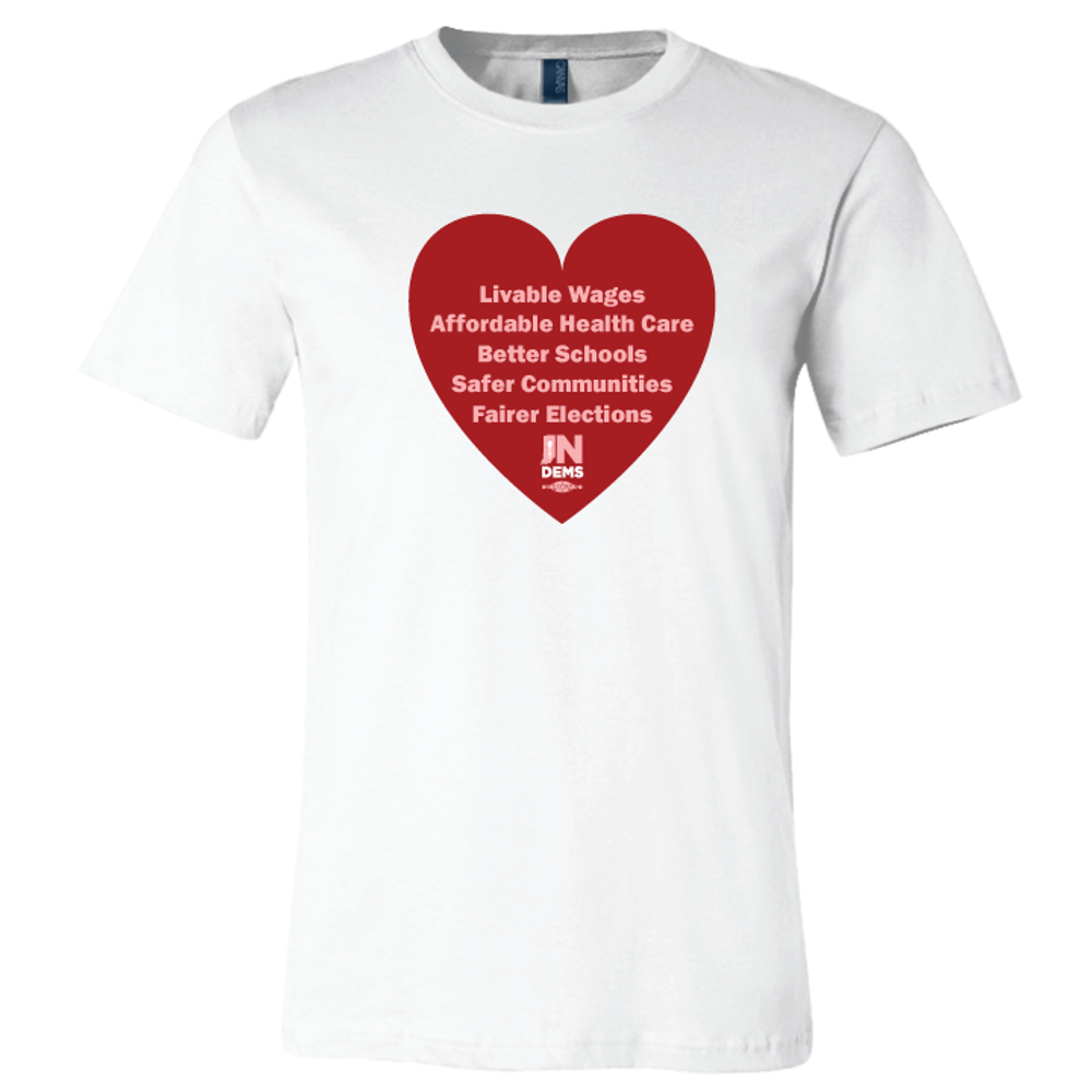 Valentine's Big Heart (White Tee)