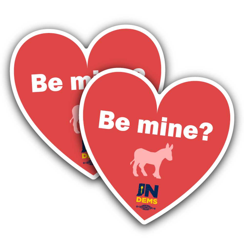 "Be Mine? (4"" x 4"" Vinyl Sticker -- Pack of Two!)"
