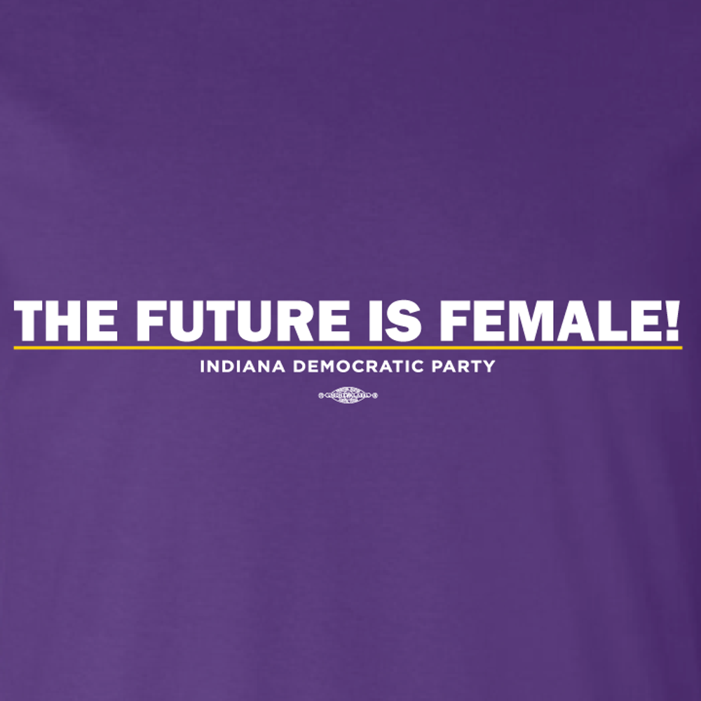 The Future Is Female (ladies Purple Tee)