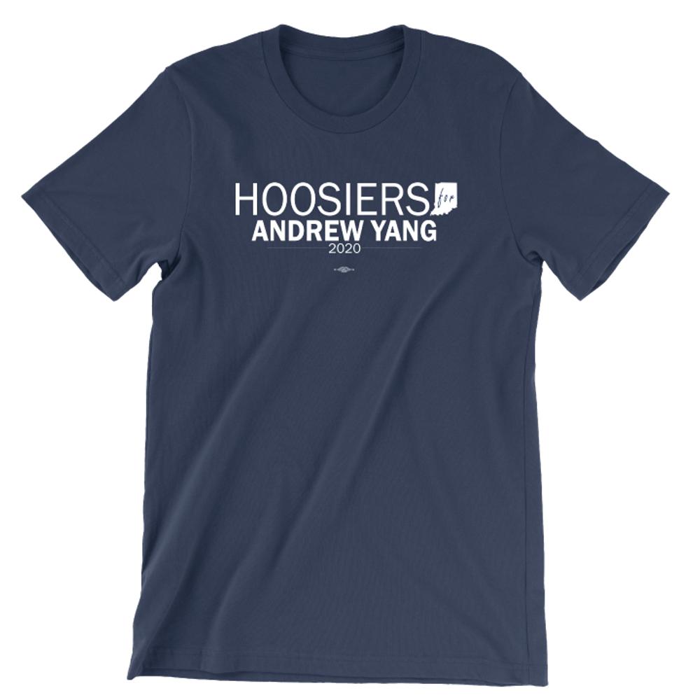 Hoosiers For Andrew Yang (Unisex Navy Tee)