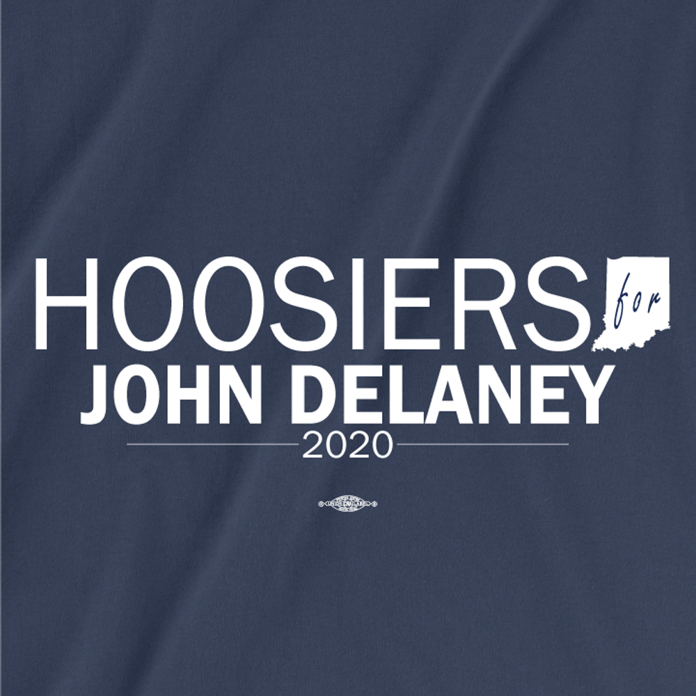 Hoosiers For John Delaney (Unisex Navy Tee)