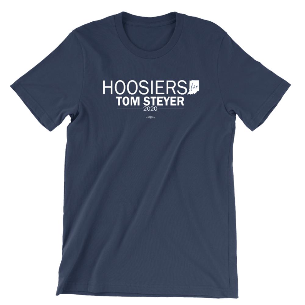 Hoosiers For Tom Steyer (Unisex Navy Tee)