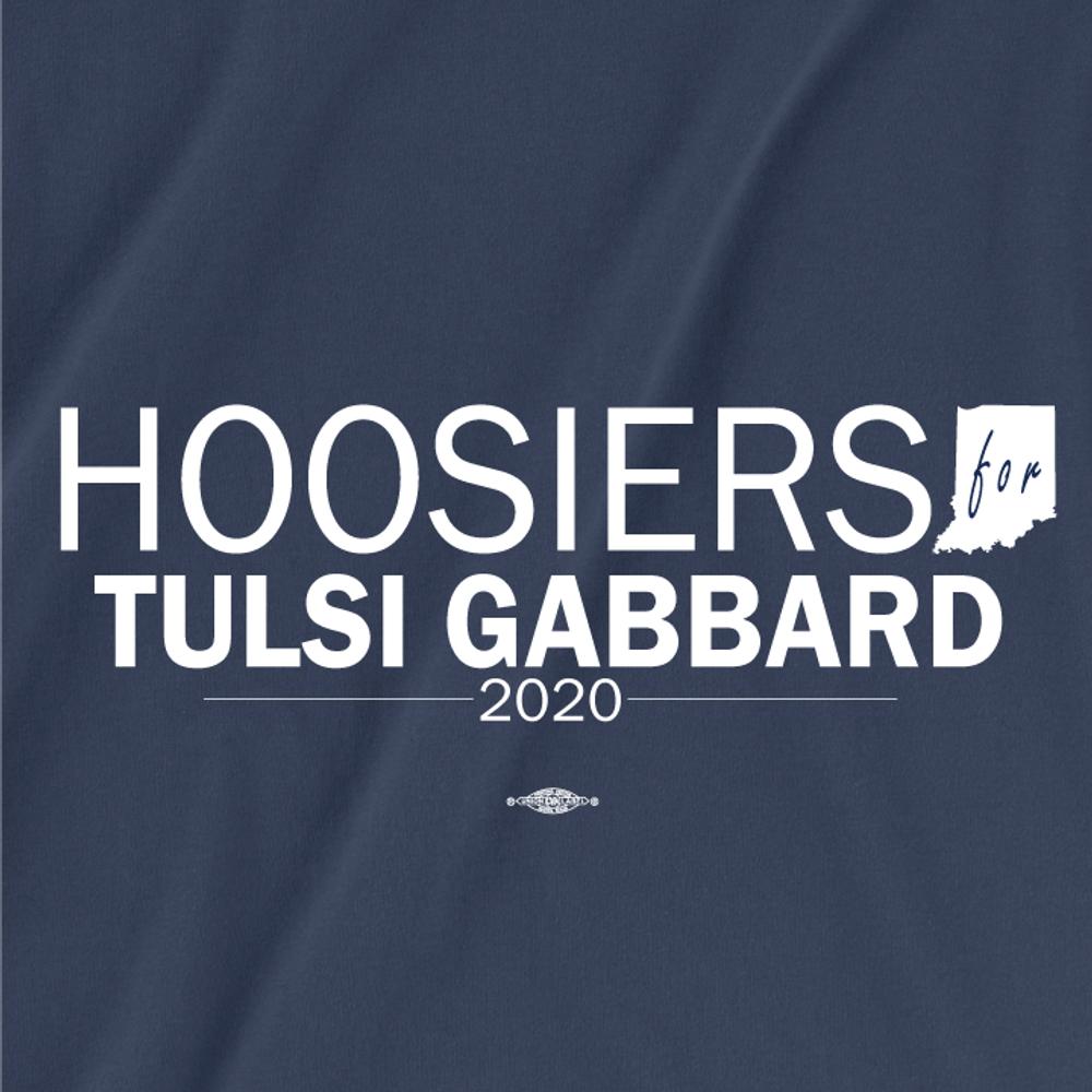 Hoosiers For Tulsi Gabbard (Unisex Navy Tee)