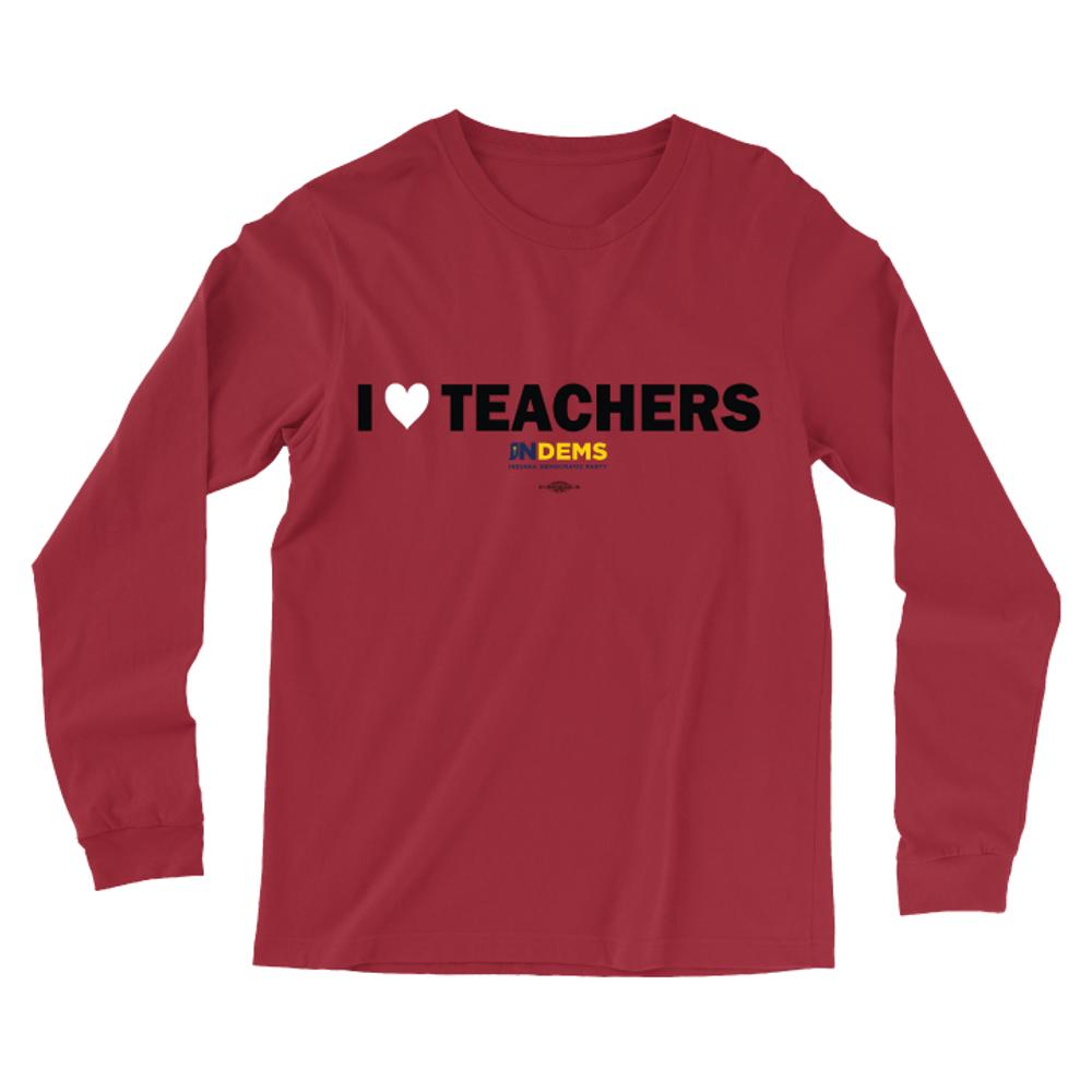 I Love Teachers (Unisex Red Longsleeve Tee)