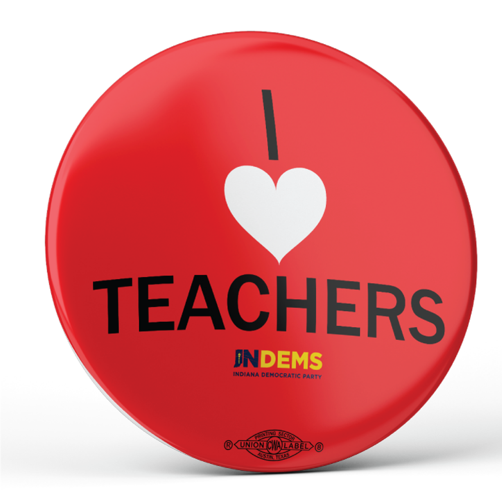 """I Love Teachers (2.25"""" Pin-Back Button - Pack of Two!)"""