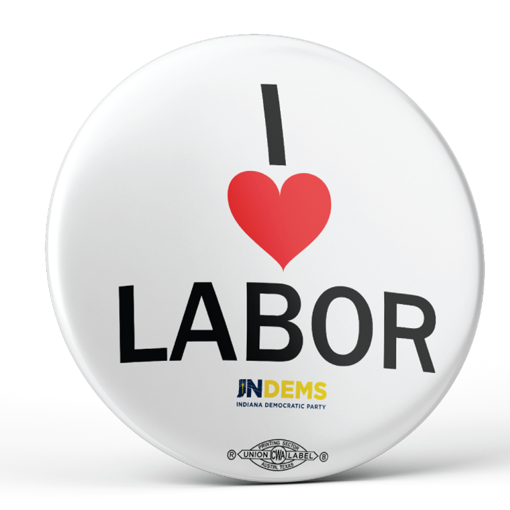 "I Love Labor (2.25"" Pin-Back Button - Pack of Two!)"