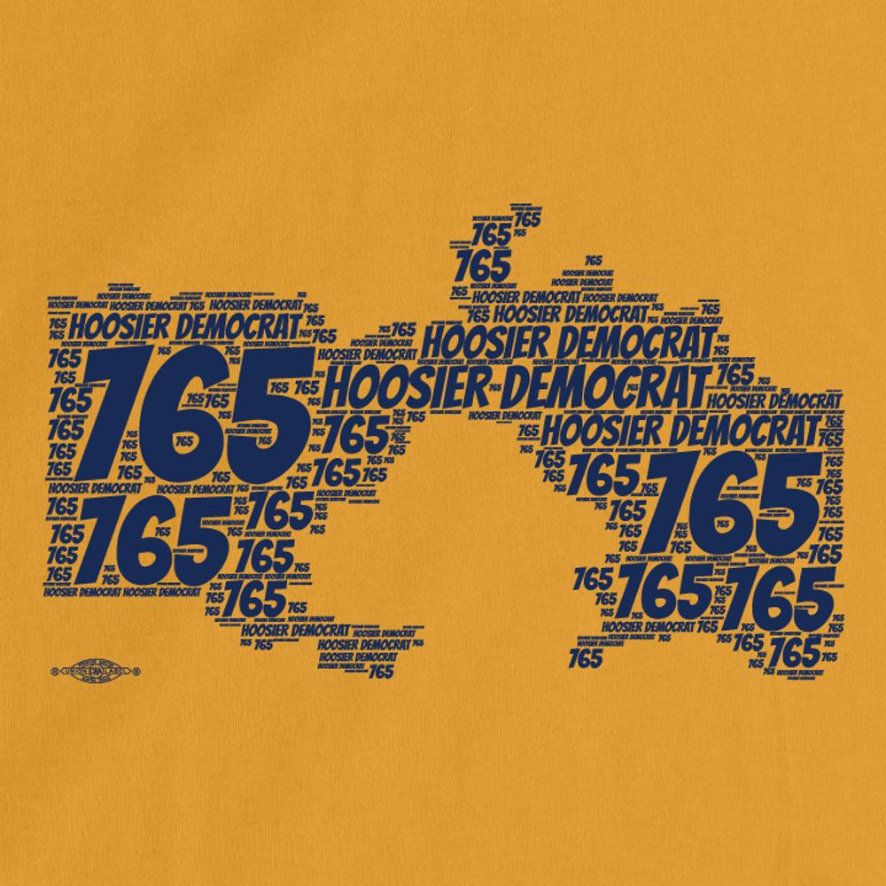 Area Code 765 (Unisex Gold Tee)