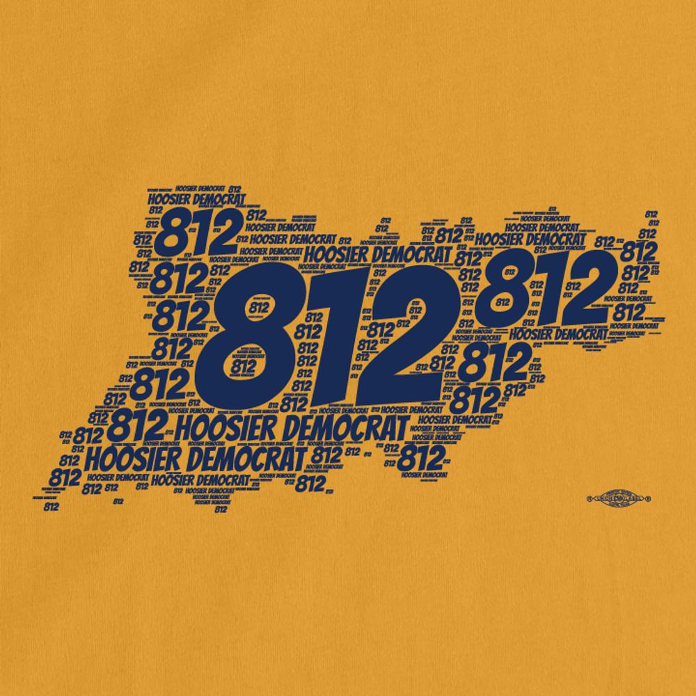 Area Code 812 (Unisex Gold Tee)