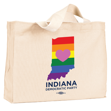 INDems Pride  Natural Canvas Tote