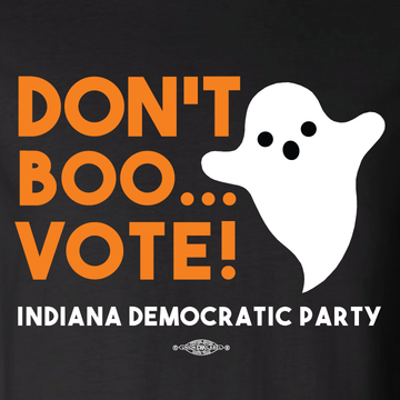 Don't Boo... Vote!  (Black Long-Sleeve Tee)