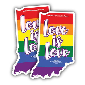 """Love is Love (2.5"""" x 4"""" Vinyl Sticker -- Pack of Two!)"""