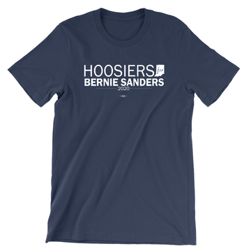 Hoosiers For Bernie Sanders (Unisex Navy Tee)
